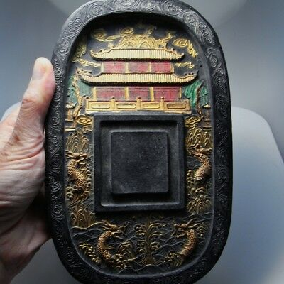 IMPERIAL Chinese Ink Block Cake Black Calligraphy Antique Chinese Qing Dynasty