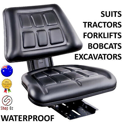 New UNIVERSAL TRACTOR FORKLIFT EXCAVATOR SEAT Backrest Chair PU Leather