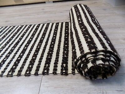 Antique Handwoven Heavy Fabric or Rug runner Wool Linen 1920s 5,4x0,54m Not used