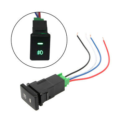 DC12V Front Fog light Push Switch 4 Wire Button For Toyota Camry Prius Corolla