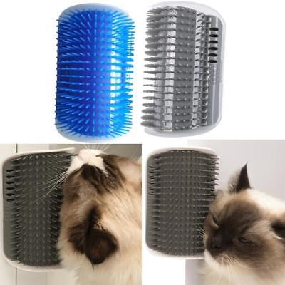 Pet Cat Self Groomer Brush Wall Corner Grooming Massage Comb Toy W/ Catnip