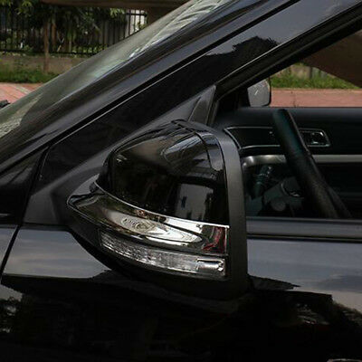 For Ford Explorer Sport 2016-2018 Chrome Side Rearview Mirror Strips Cover Trim