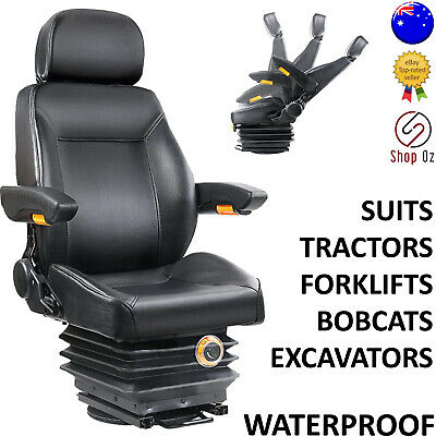 New UNIVERSAL TRACTOR FORKLIFT EXCAVATOR SEAT Backrest Spring Chair Bobcat