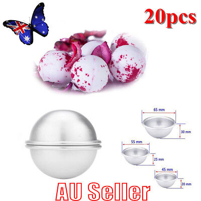 20pcs Aluminum Bath Bomb Molds DIY Homemade Crafting Bath Round Ball Moulds NWW