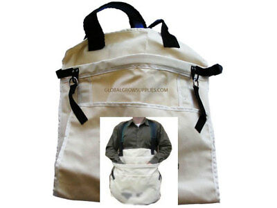 Heavy Duty Canvas Picking Bag with Padded Straps and Long Exit Shute