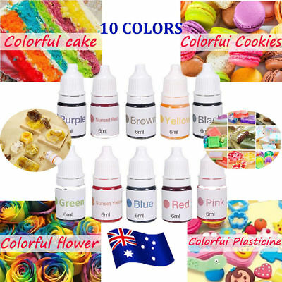 10 Color  Dyes Soap Making Coloring Set Liquid Kit Colorants DIY Bath Bomb NW