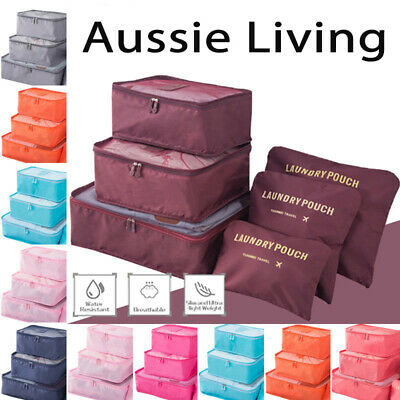 6 5 Pcs Clothes Underwear Travel Toiletry Storage Travel Luggage Organizer Bag