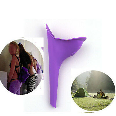 Reusable Silicone Portable Urinal Women Female Travel Camping NEW QC