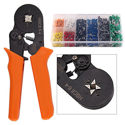 Crimp Tool Adjustable Ratchet Ferrule Crimper Plier 800 Wire Terminal Connector