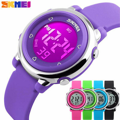 Kids Boys Girls LED Waterproof Electrical Digital Sports Watch Alarm Stopwatch