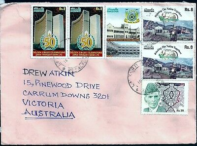 Pakistan Commercial Cover From Rawalpindi To Victoria, Australia