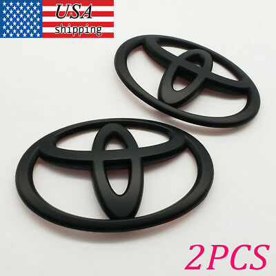 Matt Black Front and Rear Car Badge Emblem For Toyota 86 GT86 FRS-New 2PCS