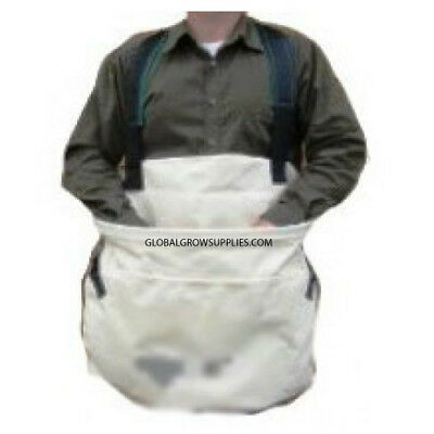 Heavy Duty Cotton Canvas Produce Picking Bag with Comfort Harness (2 bags)
