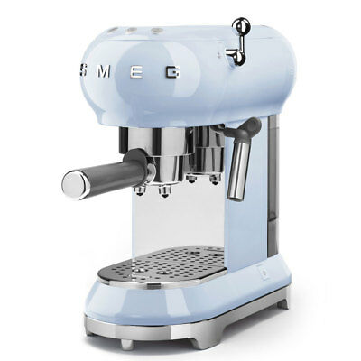 NEW Smeg 50s Retro Espresso Coffee Machine Pastel Blue