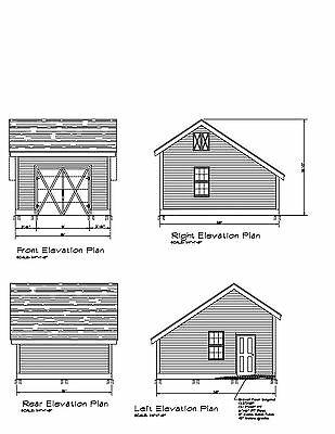 16X20 FT Guest House Storage Shed with Porch Plans #P81620 ...