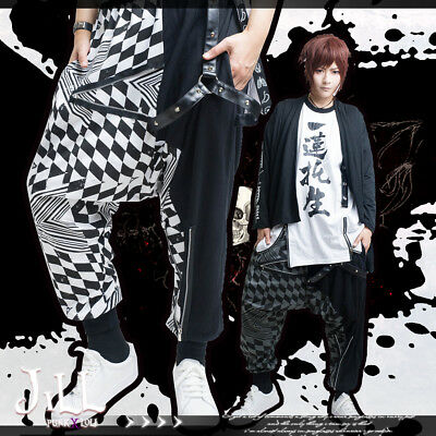 Japan anime cosplay god/'s exemption chinese calligraphy wide leg pants【JAG0077】