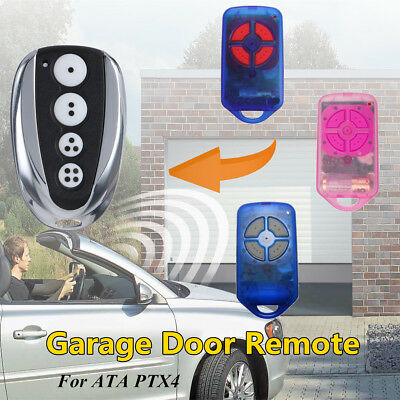 4 Button 433MHz Gate Garage Door Remote Control Rolling Code For ATA PTX4 GDO