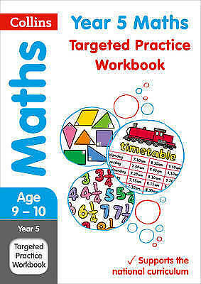Collins Year 5 Maths Targeted Practice Workbook Age 9-10 NEW (Paperback 2017)