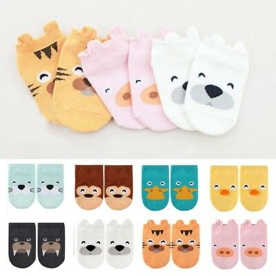 Toddler Boys Girls Baby Infant Ankle Socks Cartoon Animal Anti Slip Cotton Socks