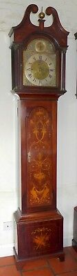 19th Cent Marquetry Mahogany Musical Longcase Clock