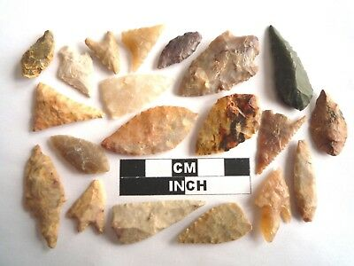 20 x Neolithic Arrowheads - Genuine Saharan Flint Artifacts - 4000BC (2009)