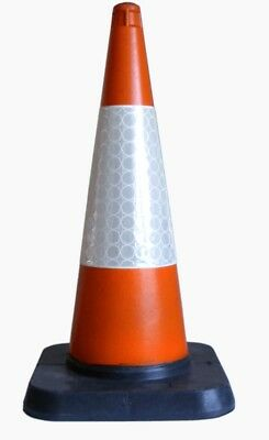 100 x BRAND NEW Heavy Duty Self Weighted 750mm Road Traffic Cones FREE DELIVERY