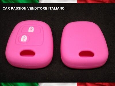Guscio Chiave Peugeot Silicone 107 207 307 206 306 406 Toyota Aygo Cover Rosa