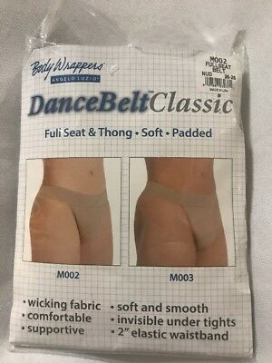 Body Wrappers Mens Full Seat Dance Belt Nude M002 26-28 New In Pkg