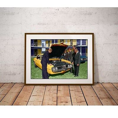 Classic Muscle Car 1967 Poster - Executives with Brand New Car for 1967