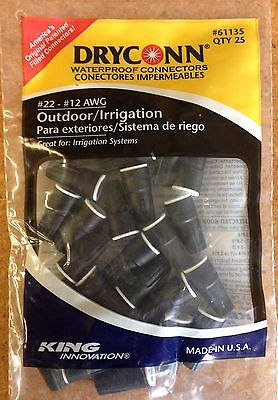 King Dryconn Direct Burial Gel Fill Black Low Voltage Wire Connector Nut Bag 25