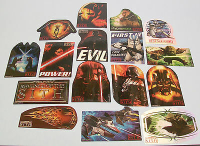Star Wars Revenge of the SITH Stickers, Set of 16