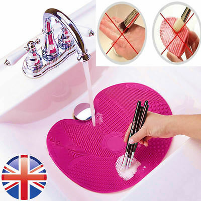 Makeup Brush Cleaning Mat | Cosmetic Brush Scrubber | EXTRA large Cleaning Mat