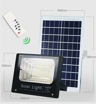 Led Outdoor Lights Solar Remote Control Style 10W 25W 40W 60W 100W