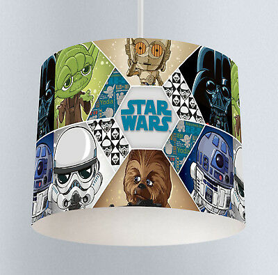 Starwars 258 Boys Bedroom Drum Lampshade Light Shade