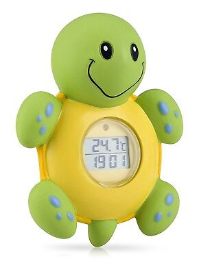 Nuby Baby Floating 3 In 1 Bath Time Turtle | Room LCD Display Thermometer