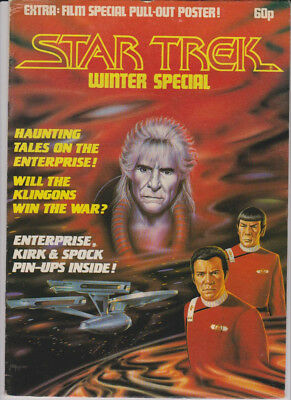 STAR TREK * WINTER Special * Film Special Pull-Out Poster * MARVEL GB 1982
