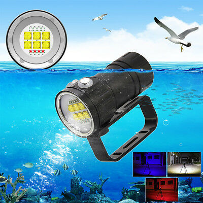 Diving Fotografie Video 14X L2 LED 28800LM Rot Blau Weiß Licht Tauche Tauchlampe