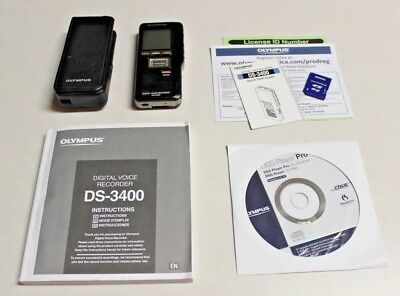 Olympus DS-3400 Digital Voice Recorder with 2 GB Card, Software and Manual