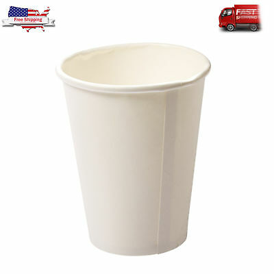 (Pack of 50) White Disposable Eco Friendly Hot Tea Coffee Cups, 12-Oz Capacity