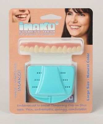 Original Imako Cosmetic Teeth Cover, Instant Hollywood Smile Natural or Bleached