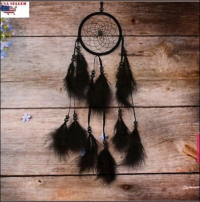 Dream Catcher hanging wall with feather Handmade ornament for wall  home or car