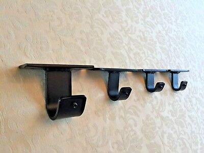 Wrought Iron Ceiling Fix Brackets for Iron Metal Curtain Pole Rod 16mm 20mm 32mm