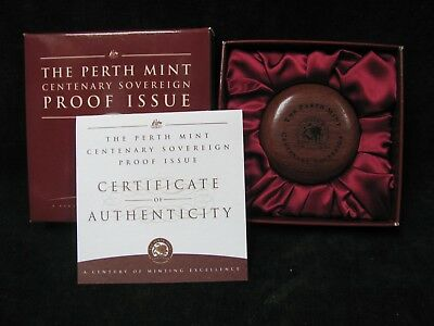 1999 Perth Mint Centenary Sovereign Proof Issue