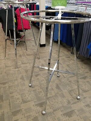 """36"""" Commercial Store Round Clothing Rack Polished Chrome"""