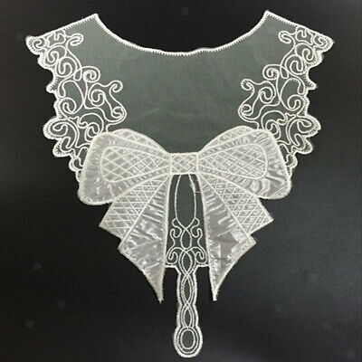 1pc White Bowknot Lace Applique DIY Sew on Patch DIY Decor