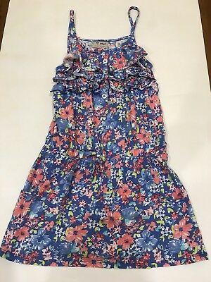 Summer NEXT girls Blue floral Tunic Top - Age 7