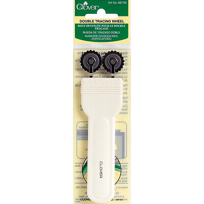 Clover 487W Double Tracing Wheel-Serrated Edge