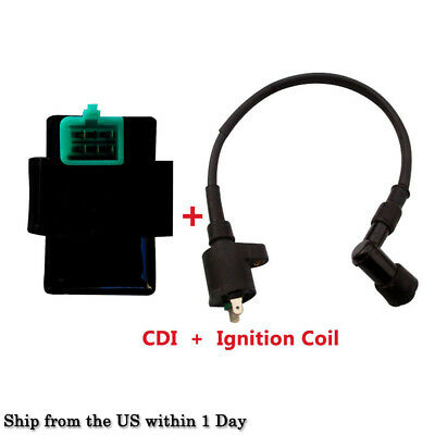Set of Ignition Coil Relay + 5 Pin CDI box for 50-250cc ATV Dirt
