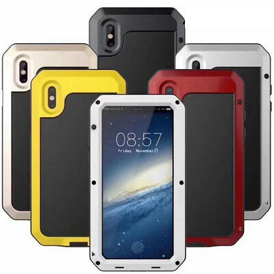 Shockproof Aluminum Gorilla Glass Metal Case Cover for iPhone XS XR 6S 7 8 Plus