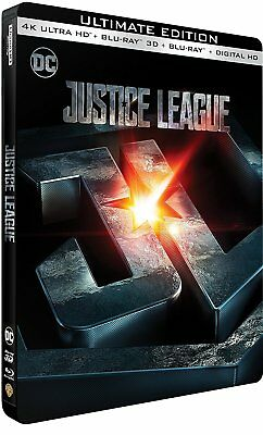 Justice League (4K UHD + 3D/2D Blu-ray Ultimate Steelbook) + Bonus Art Cards